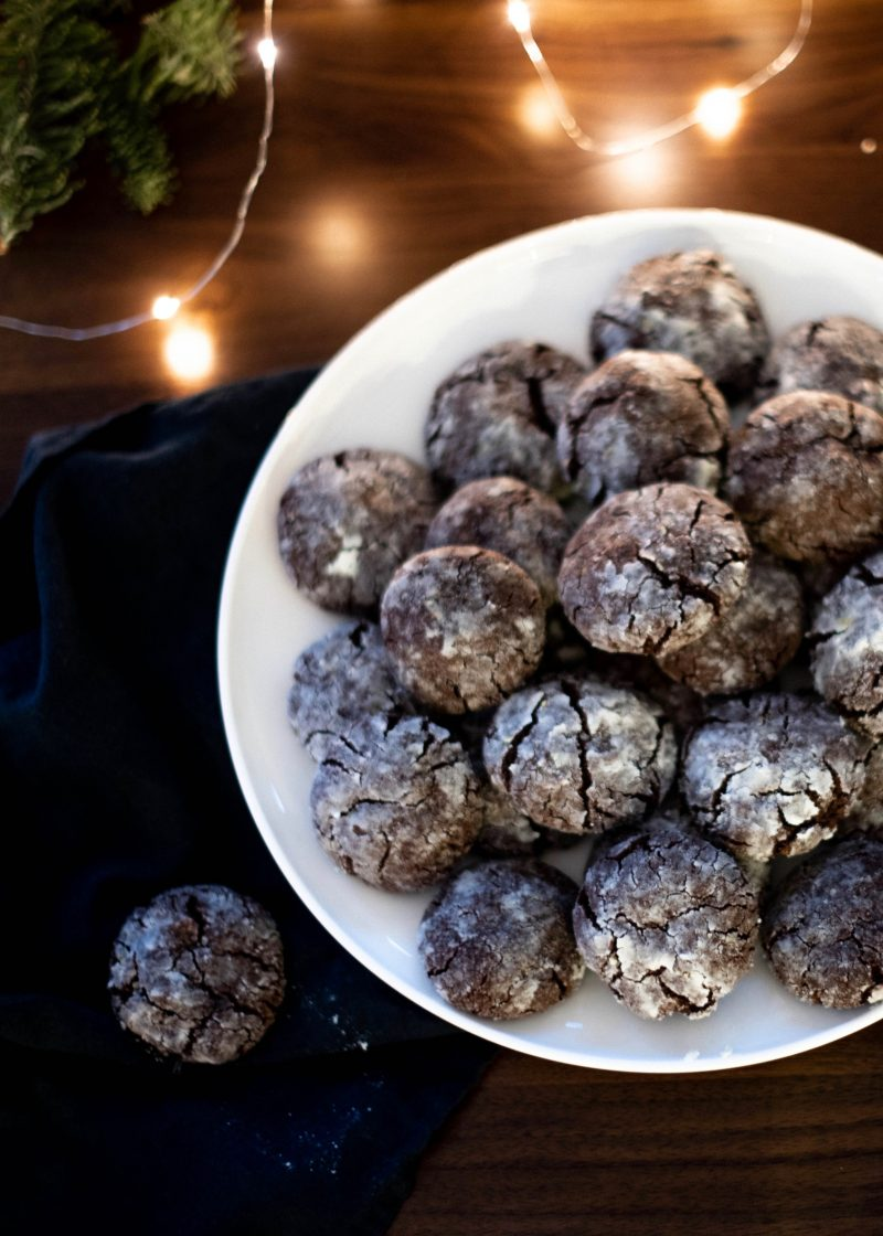 Flourless Chocolate Snowball Cookies
