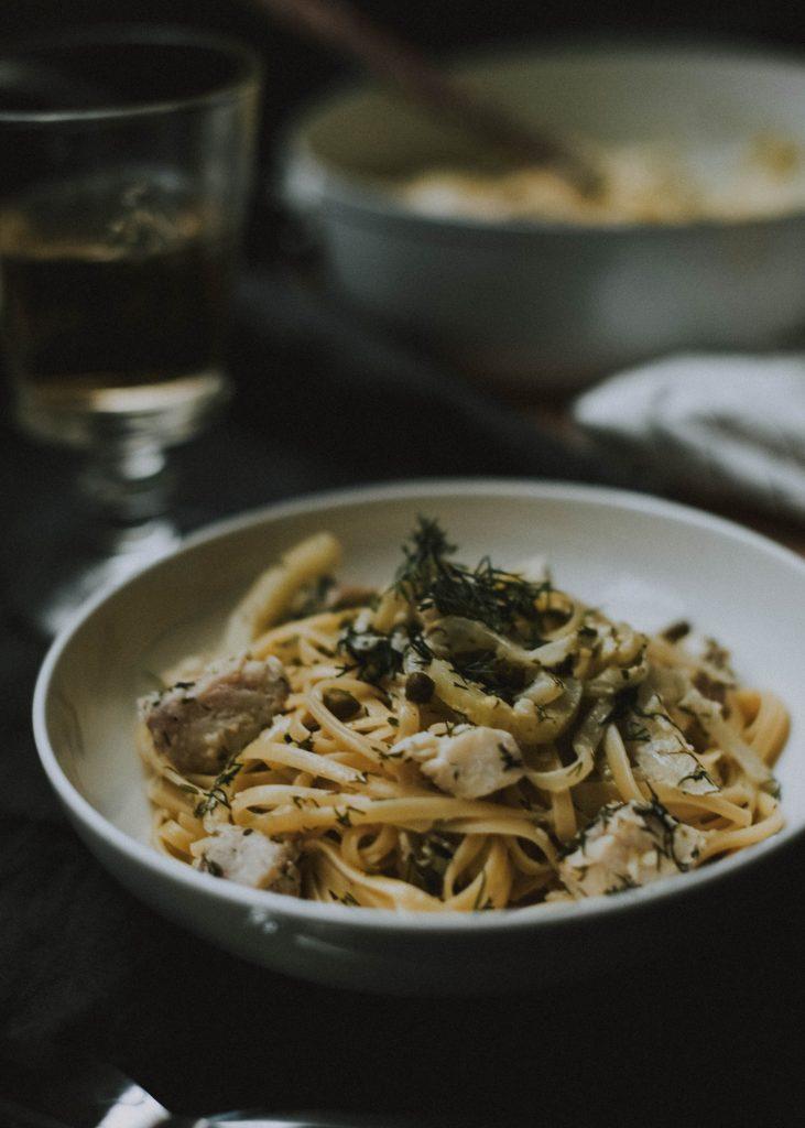 lingcod creamy pasta